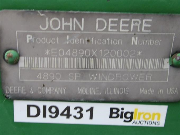 1997 John Deere 4890 Self Propelled Windrower W/Head BigIron