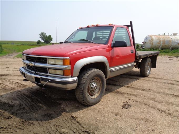 1998 Chevrolet K2500 4x4 Diesel Flatbed Pickup Bigiron Auctions