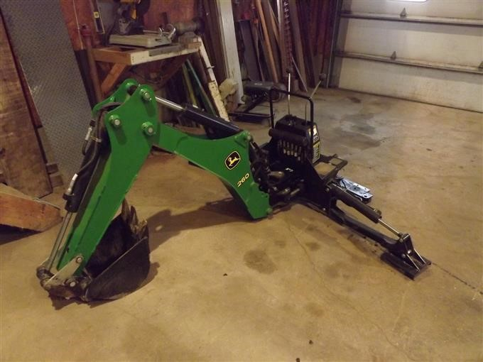 John Deere 260 Compact Tractor Backhoe Attachment BigIron Auctions
