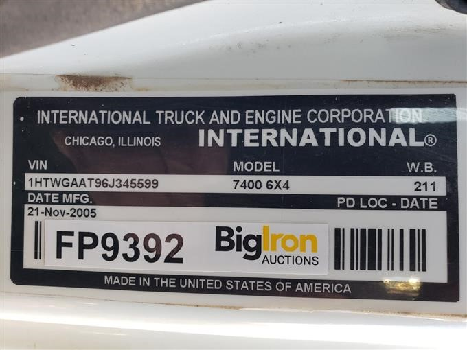 2006 International 7000 T/A Mixing/Feed Truck BigIron Auctions