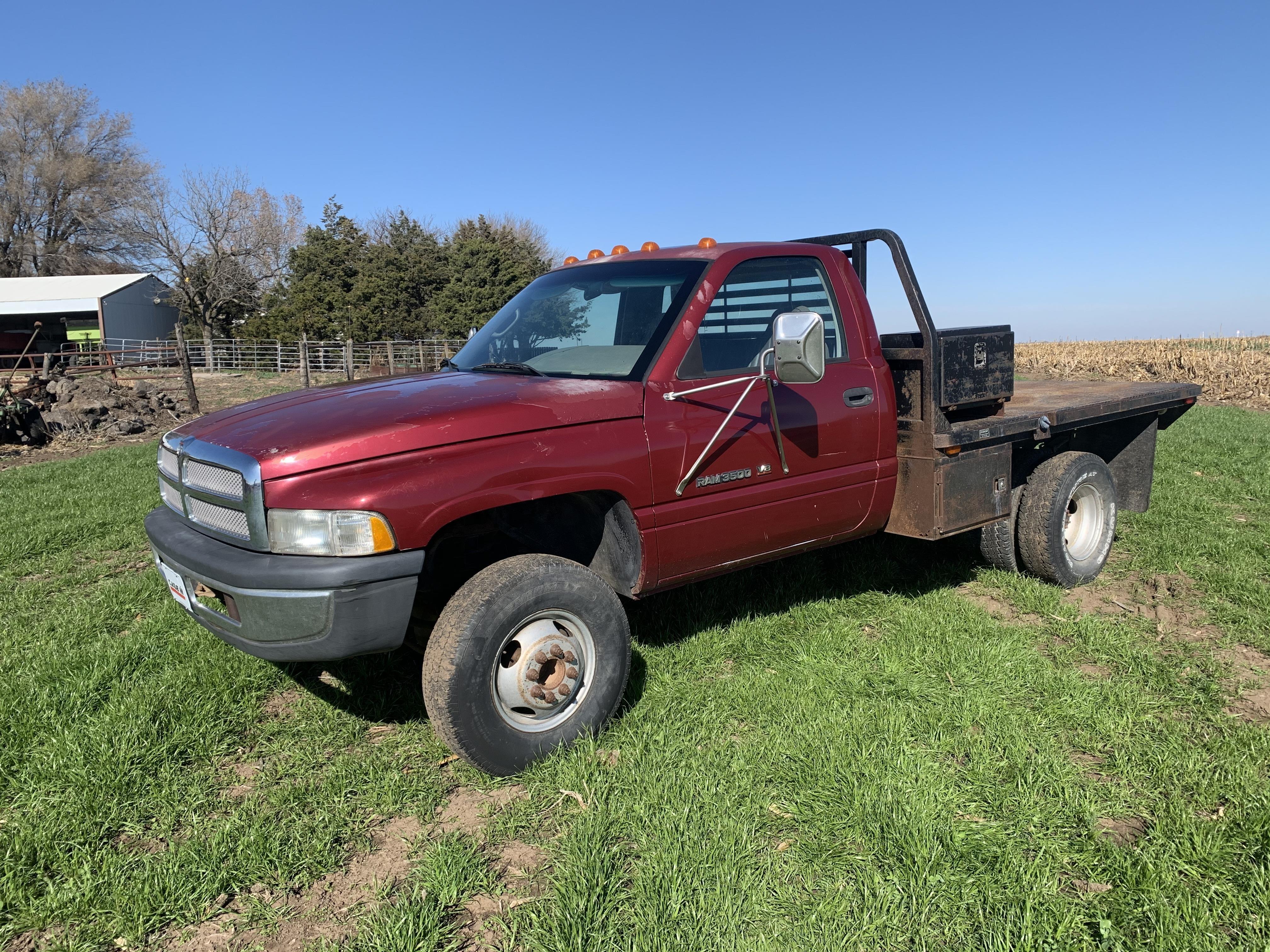 1996 Dodge Ram 3500 4x4 Dually Flatbed Pickup Bigiron Auctions