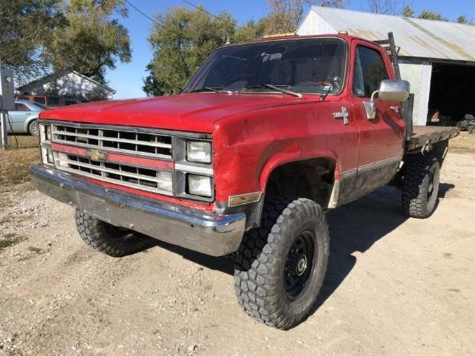 1983 Chevrolet K30 4x4 Regular Cab Flatbed Pickup BigIron Auctions