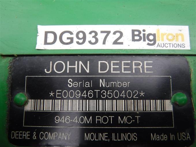 2009 John Deere 946 MoCo 12' Hydra-Swing Disk Mower