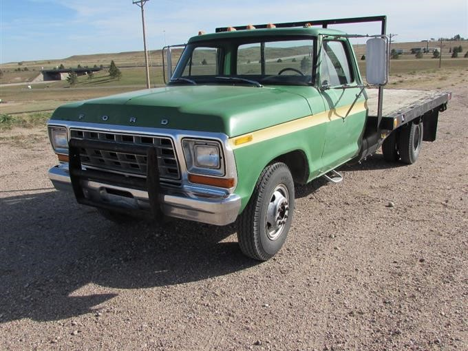 1973 Ford F350 Custom Drw Dually Flatbed Pickup Bigiron Auctions