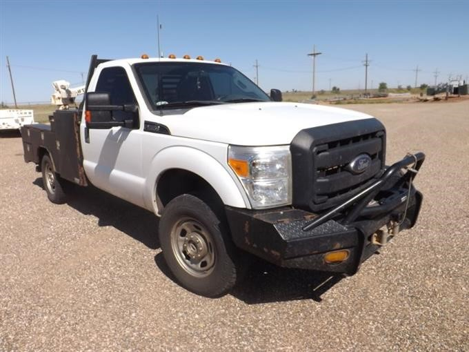 2013 Ford F350 4x4 Service Pickup W/Side Winch BigIron Auctions
