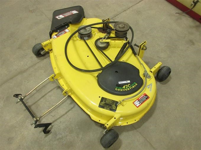 John Deere 42c Convertible 42 Mower Deck Iron Auctions