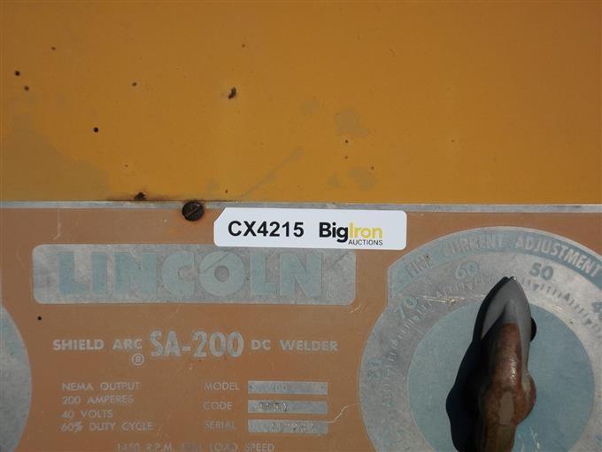 Lincoln SA200 Portable Welder BigIron Auctions