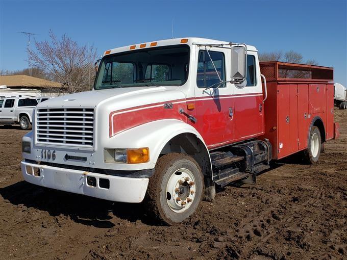 1996 International 4700 4 Door Service Utility Truck Bigiron Auctions