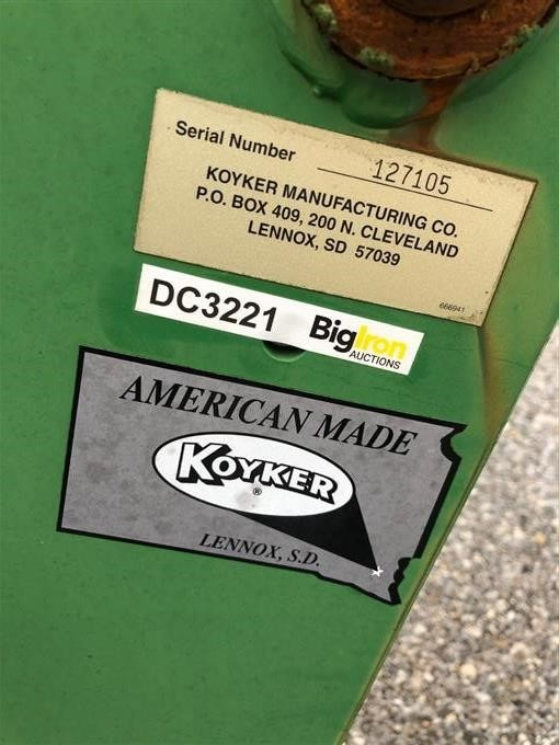 Koyker 2585 Front Loader BigIron Auctions