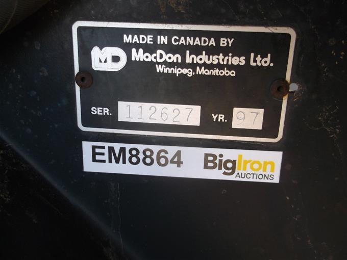 1997 MacDon 960 Draper Header W/Transport BigIron Auctions