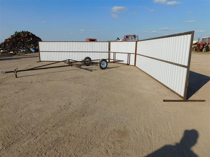 2018 Shop Built Portable Livestock Wind Break Bigiron Auctions