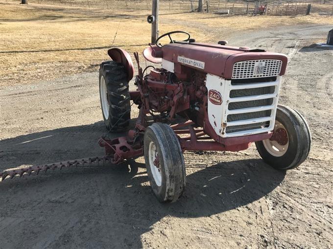 International 240 2WD Utility Tractor W/Sickle Mower BigIron Auctions