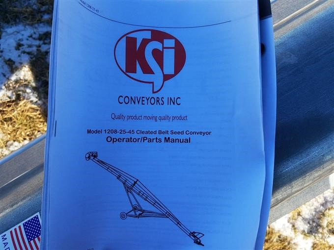 KSI Conveyors, Inc 1208 32 Cleated Seed Belt Conveyor BigIron Auctions