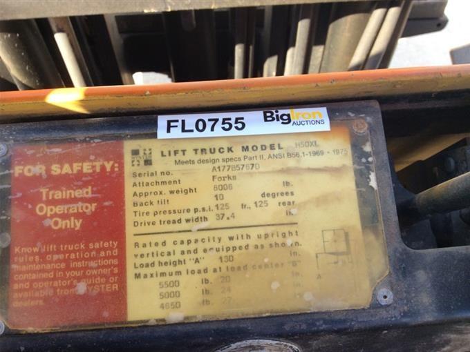 2006 Hyster H50XL Forklift BigIron Auctions