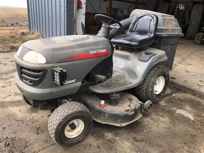 2002 Craftsman Lt 2000 Lawn Mower Bigiron Auctions