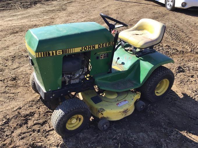 John Deere 116 Lawn Tractor Bigiron Auctions