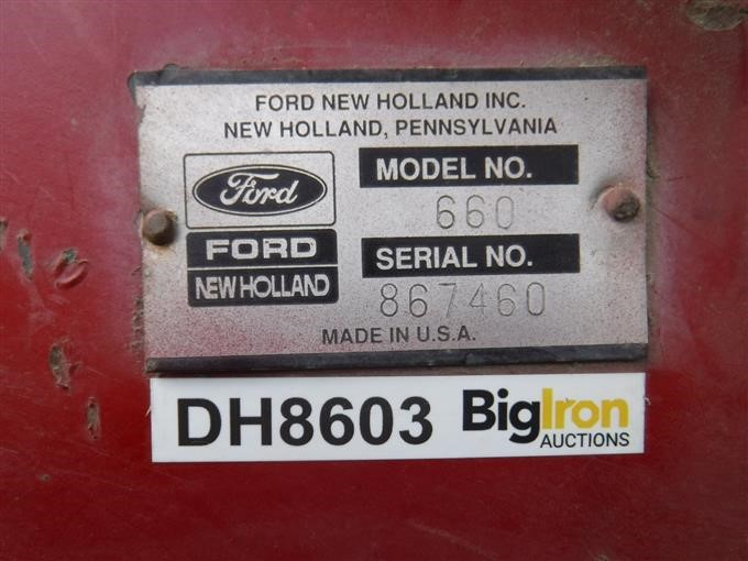 1992 New Holland 660 Round Baler w/ Net Wrap BigIron Auctions