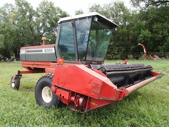Hesston 8200 Windrower BigIron Auctions