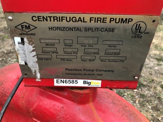 Peerless 8AEF20G Horizontal Split-Case Centrifugal Pump