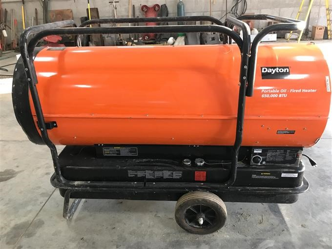 Dayton Portable Oil Fired 650 000 Btu Heater Bigiron Auctions