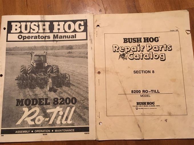 Bush Hog 8200 Ro-Till Strip Tillage Implement BigIron Auctions