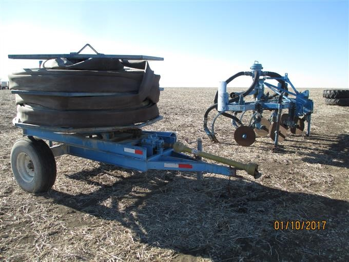 Liquid Manure Injection Chisel With Hose And Power Reel