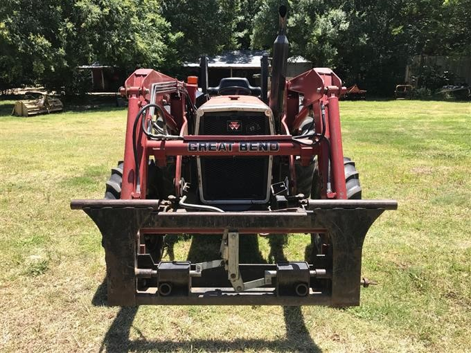 1996 massey ferguson 253 mfwd tractor w great bend 330 front loader Old Massey Ferguson TO35 Tractors 1996 massey ferguson 253 mfwd tractor w great bend 330 front loader bigiron auctions