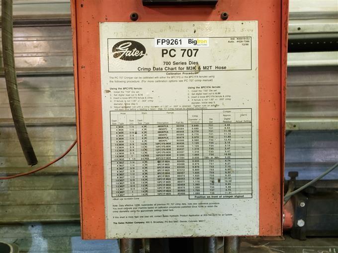Gates Pc707 Hydraulic Hose Crimper Bigiron Auctions