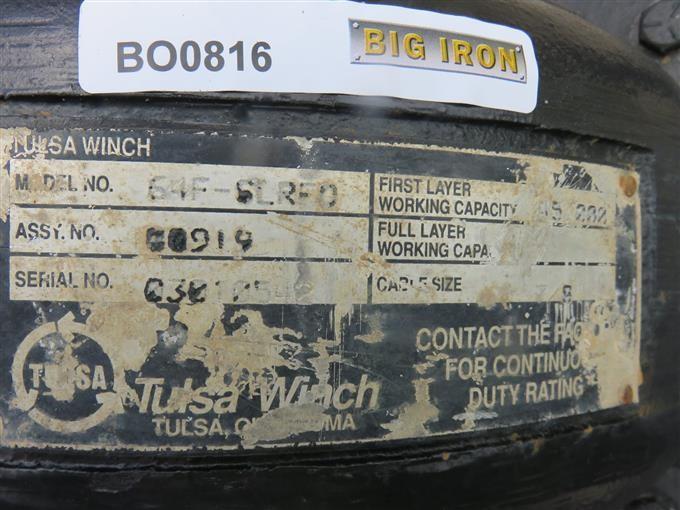 Tulsa Winch 64F-6L Rfo Heavy Duty Truck Winch BigIron Auctions