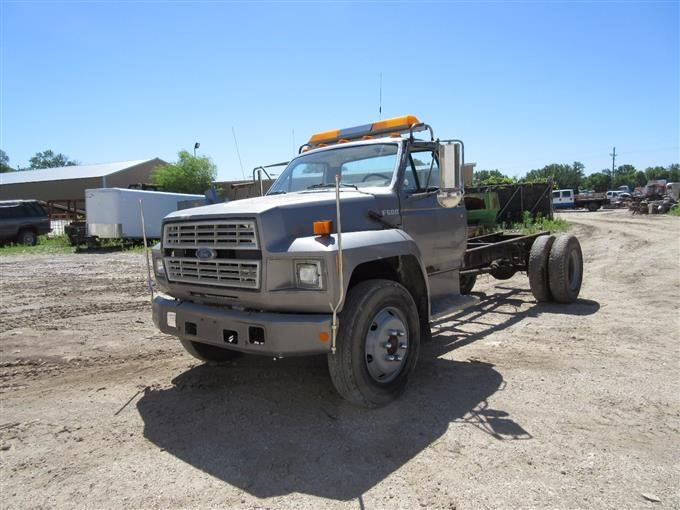 1989 Ford F600 Cab Amp Chassis Truck Bigiron Auctions