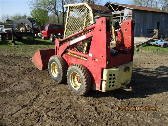 Gehl 4300 Skid Steer W  Loader Bigiron Auctions