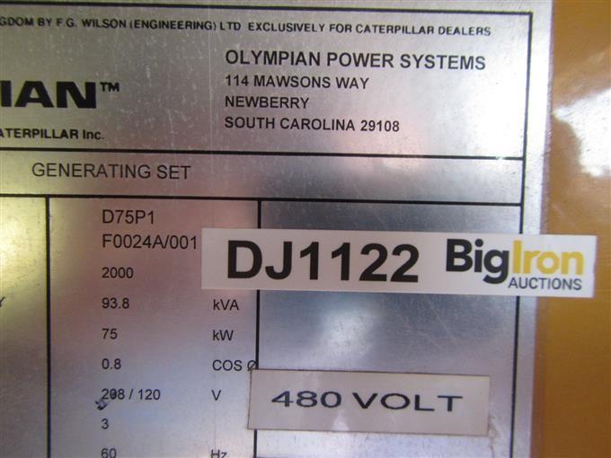 2000 Olympian D75P1 Generator BigIron Auctions