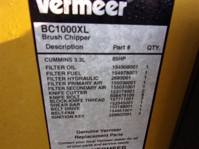 Vermeer BC 1000 XL Brush Chipper BigIron Auctions
