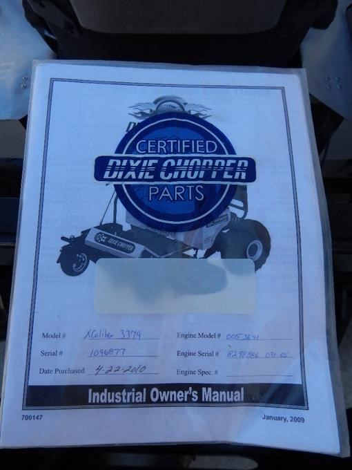 2010 Dixie Chopper Industrial XCaliber 3374 Riding Lawn