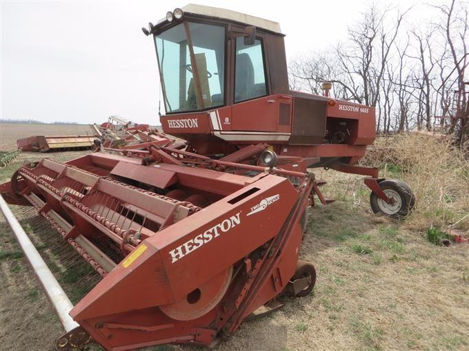 Hesston 6655 Windrower BigIron Auctions
