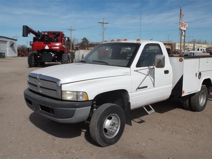 1996 dodge ram 3500 service truck bigiron auctions 1996 dodge ram 3500 service truck