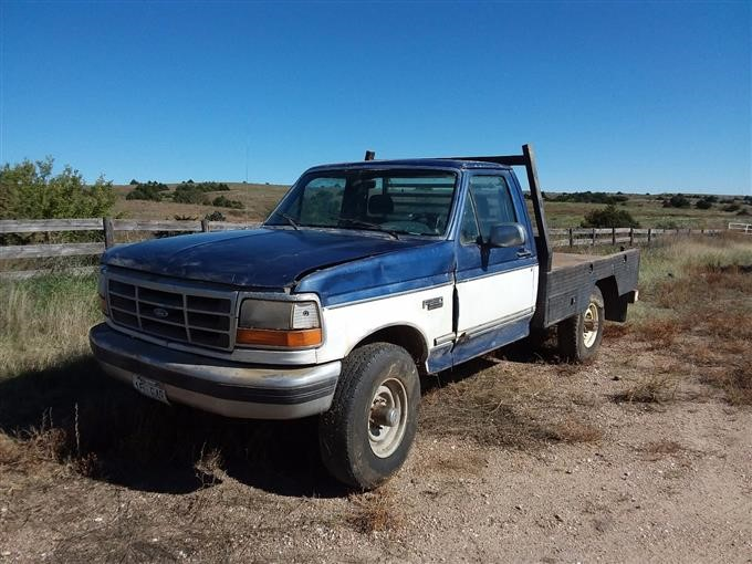 Ford F250 Parts >> 1994 Ford F250 4x4 Flatbed Pickup For Parts Bigiron Auctions