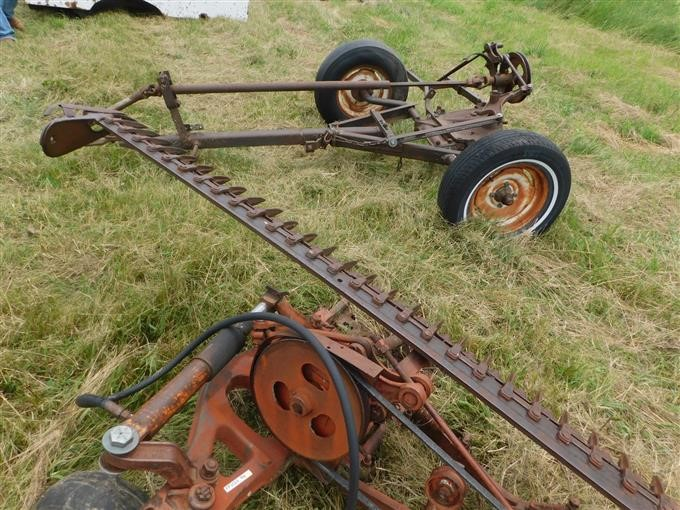 International Sickle Bar Mower & Trail Cart BigIron Auctions