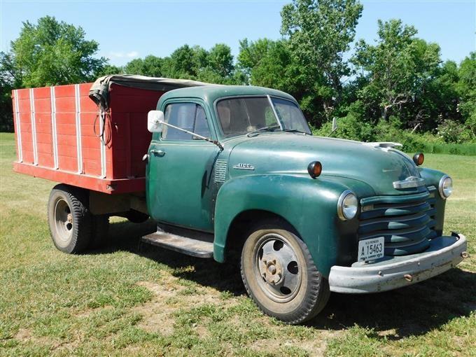 1953 Chevrolet 4100 S A Flatbed Dump Truck Bigiron Auctions