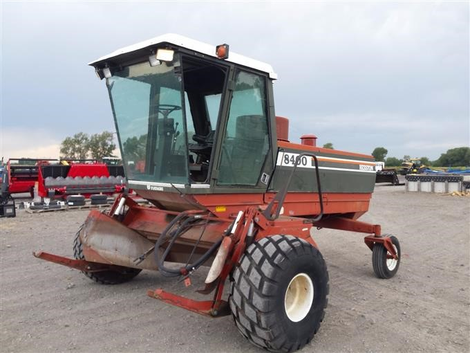 Hesston 8400 Swather/Windrower With 2 Headers BigIron Auctions