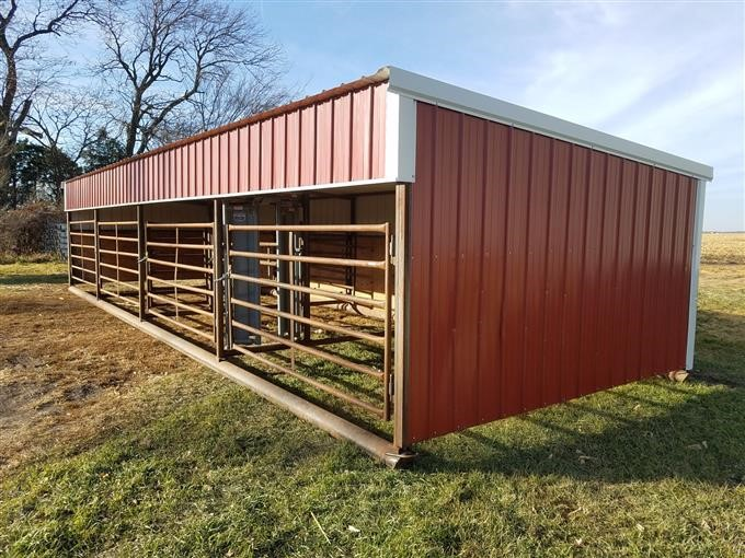 Sheds Portable Livestock : Nielsen welding construction portable cattle shed with