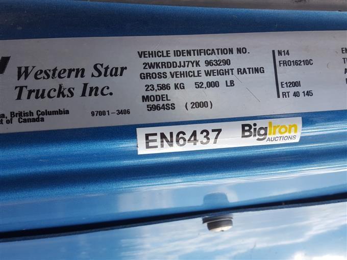 2000 Western Star 5964SS Tri/A Truck Tractor BigIron Auctions