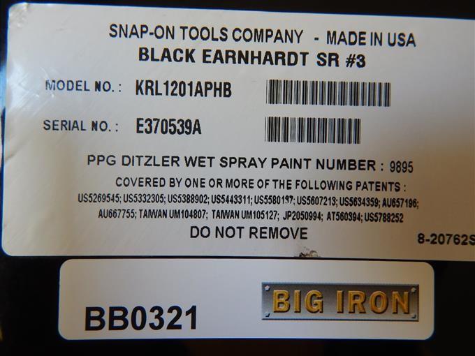 Snap-On Dale Earnhardt Commemorative Tool Box BigIron Auctions