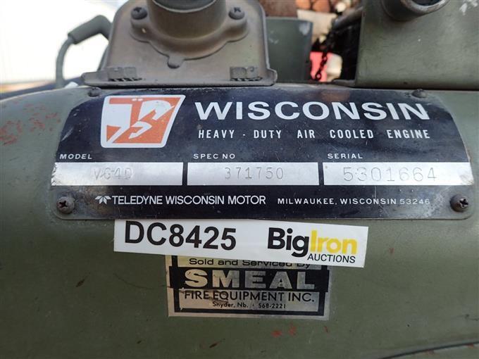 Wisconsin VG4D Engine W/Water Pump For Grass Fire Equipment