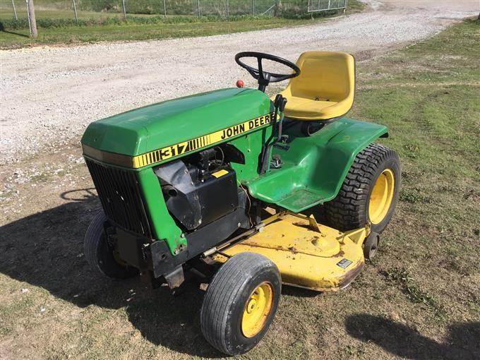 1980 John Deere 317 Garden Tractor With Mowing Deck Bigiron Auctions