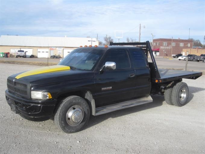 1996 dodge ram 3500 flatbed pickup bigiron auctions 1996 dodge ram 3500 flatbed pickup