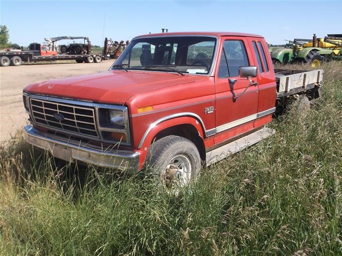 Ford F250 Parts >> 1986 Ford F250 4x4 Flatbed Pickup For Parts Only Bigiron
