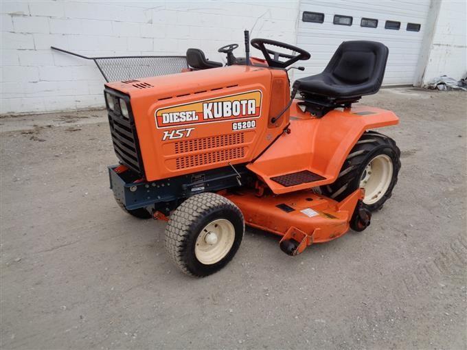 Kubota Hst G 5200 Diesel Riding Lawn Mower 48 U0026quot  Deck