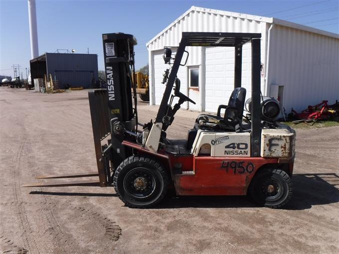 Nissan Optimum 40 Pneumatic Forklift Bigiron Auctions