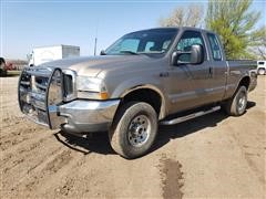 2002 Ford F250 Super Duty Diesel 4x4 Extended Cab Pickup